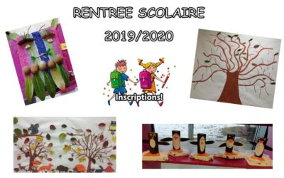 RENTRÉE SCOLAIRE 2019/2020
